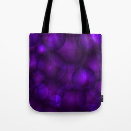 Glowing purple soap circles and gentle volume bubbles of air and water. Tote Bag
