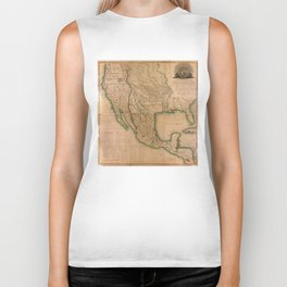 Map of North America Missouri Territory (1826) Biker Tank