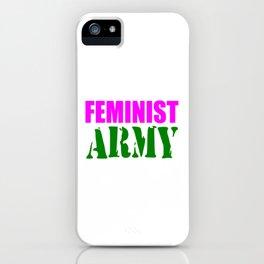 feminist army iPhone Case