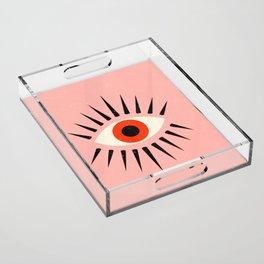Red Eye Acrylic Tray