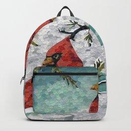 Cardinals In Winter Backpack