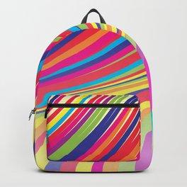 Crazy Fantasy Colorful Stripes Backpack