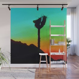 Lone Joshua Tree in Desert Sunset Wall Mural