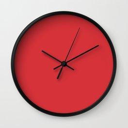 Poppy Red Basic Simple Plain Wall Clock