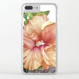 vibrant hibiscus Clear iPhone Case
