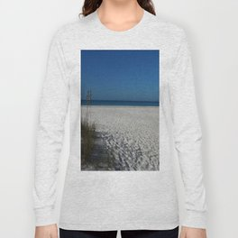 A Peaceful Day At A Marvelous Gulf Shore Beach Long Sleeve T-shirt