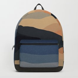 Sunset Mountain Reflection in Water Backpack