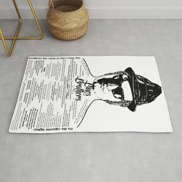 Jake Blues Brothers tattooed 'Four Fried Chickens' Rug
