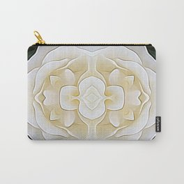 White Flower of Balance Carry-All Pouch