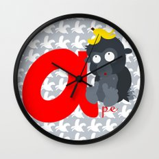 a for ape Wall Clock