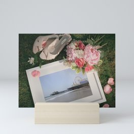 Romantic Santa Monica Pier framed Photo for Wedding or Valentine's Day Mini Art Print