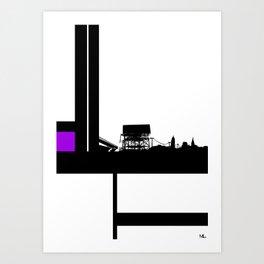 Just Around The Bend Art Print