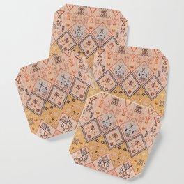 N218 - Mustard Yellow Oriental Heritage Boho Traditional Moroccan Desert Style Coaster