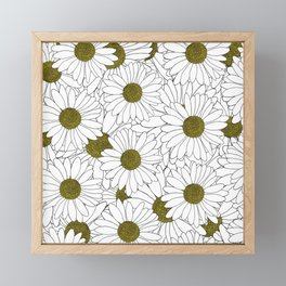 Daisy Yellow Framed Mini Art Print