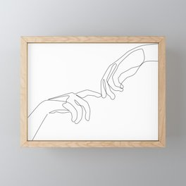 Finger touch Framed Mini Art Print