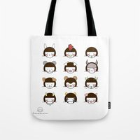 zodiac Tote Bags featuring Zodiac  by Leeanne Illustrations