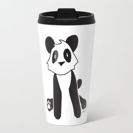 Minimalist Panda Travel Mug
