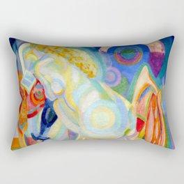 """Robert Delaunay """"Nu à la toilette (Nu à la coiffeuse)"""" (Musée 'Art Moderne de la Ville de Paris) Rectangular Pillow"""