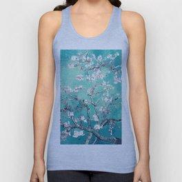 Vincent Van Gogh Almond Blossoms Turquoise Unisex Tank Top