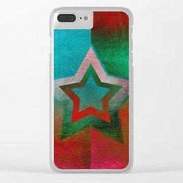 Suprematist Star Clear iPhone Case