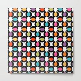 Seamless Geometric Pattern XVIII Metal Print