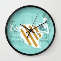 tiffany Wall Clocks featuring Tiffany by Shaina Anderson