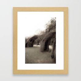 Bent Framed Art Print