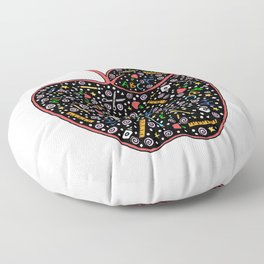 Teacher's Apple colour Floor Pillow