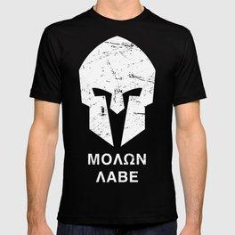 Spartan Helmet - Molon Labe T-shirt