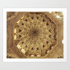 Roof. Sala de las dos Hermanas. The Alhambra Art Print