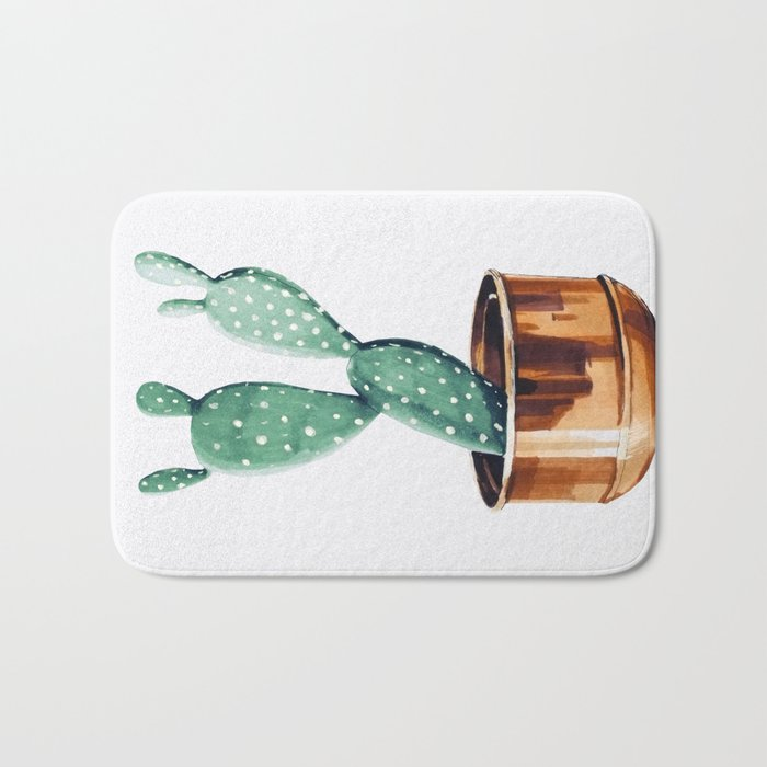 Potted Cactus Bronze Copper Bath Mat