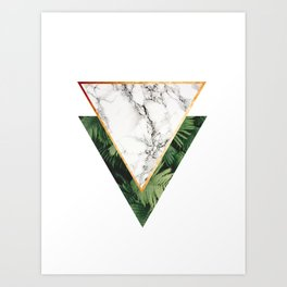 Geometric Tropical Marble Art Print