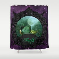 faith Shower Curtains featuring Faith by The Victorian Fantasy