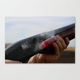 Smoking Gun Photo Canvas Print