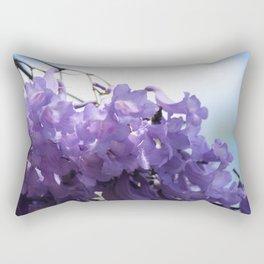 Flowering Jacaranda Tree Rectangular Pillow