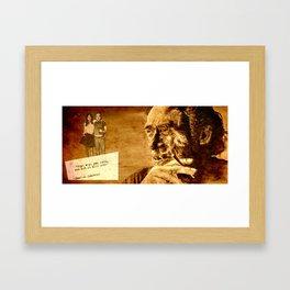 Charles Bukowski - love version Framed Art Print