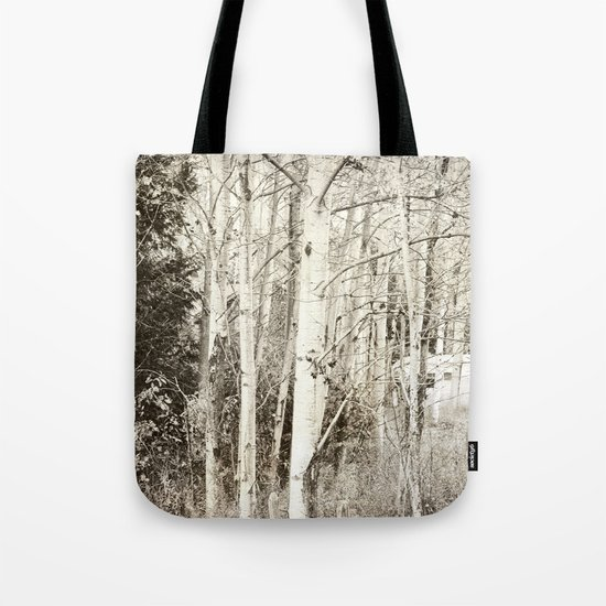 She Was a Trailer Park Girl at Heart - B&W Tote Bag