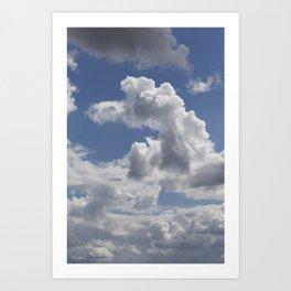 Dog Shaped Cloud Art Print