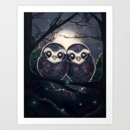 Cute Owls Art Print