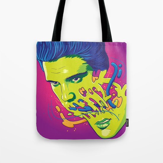 Happily melting Elvis Tote Bag