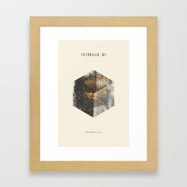 Minimalist Travel Poster - Catskills, NY Framed Art Print