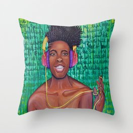 One Track Mind Throw Pillow