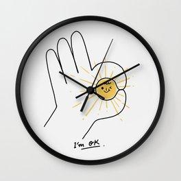 I'm OK Wall Clock