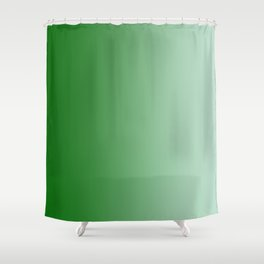 Green to Pastel Green Vertical Linear Gradient Shower Curtain