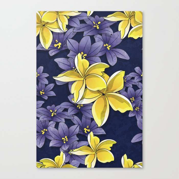Complementary flowers Canvas Print