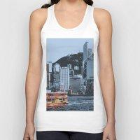 hong kong Tank Tops featuring Star Ferry Hong Kong by Phil Smyth