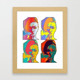 Lady Smoking Abstract Pop Art Framed Art Print