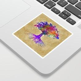 Tree Of Life Batik Print Sticker