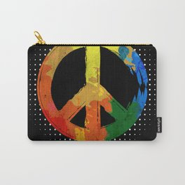 Love Peace Sign Hippie Carry-All Pouch