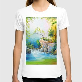 Waterfall in the forest T-shirt